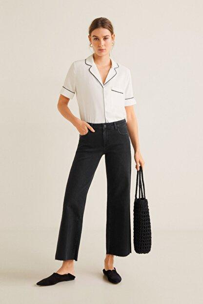 Mango Kadın Kırık Beyaz Bluz 43027720