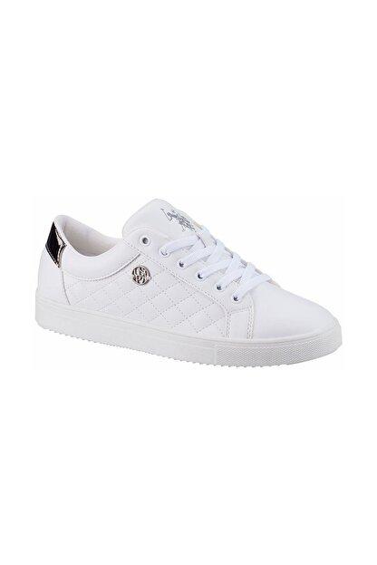US Polo Assn TIGGY 1FX Beyaz Kadın Havuz Taban Sneaker 100910788