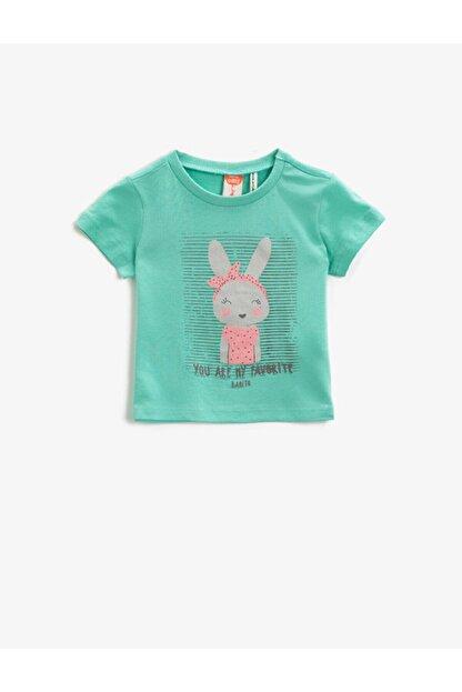Koton Kız Çocuk Yeşil T-Shirt