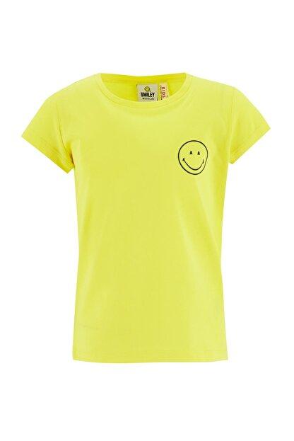 Defacto Kız Çocuk Smileyworld Lisanslı Kısa Kol Tişört