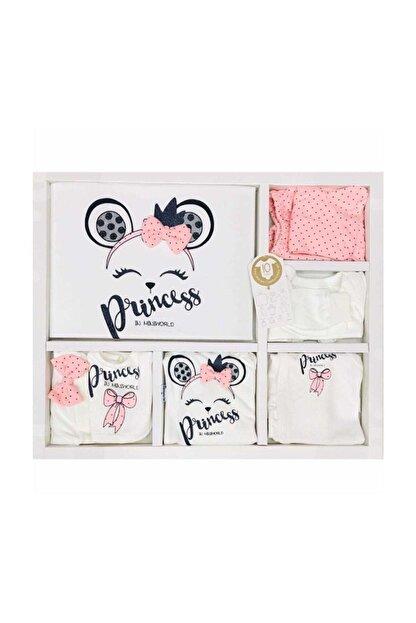 Miniworld Kız Bebek Pembe  Fiyonklu Prenses 10lu Hastane Çıkışı