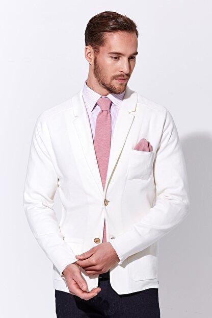 Hemington Erkek Beyaz Triko Ceket