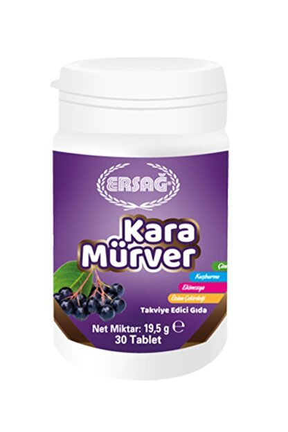 Ersağ Kara Mürver Gıda Takviyesi (30 Tablet) 19,5 gr
