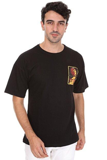 Millionaire Erkek Siyah Stop Oversize Unisex T-shirt