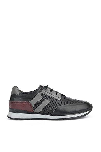 Ziya , Erkek Hakiki Deri Sneaker 111415 396053 Sıyah