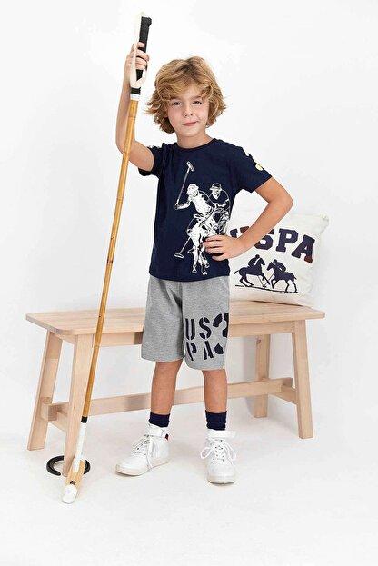 US Polo Assn Erkek Çocuk Lacivert Şort Takım