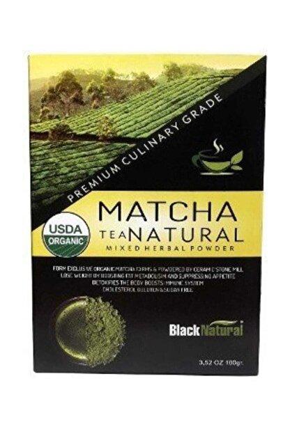 Black Natural Matcha (Maça) Japon Yeşil Çayı 100 gr