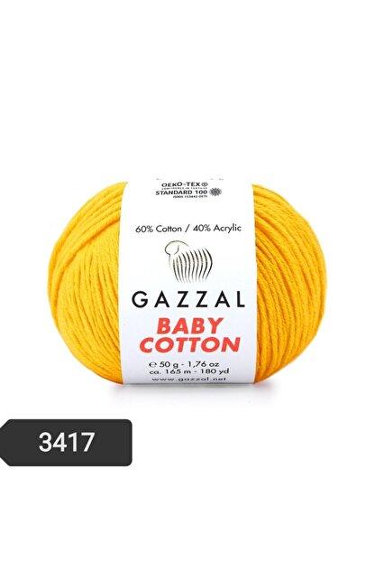 Gazzal Baby Cotton Amigurumi Ipi 50 Gr El Örgü Ipi Punch Ipi 3417
