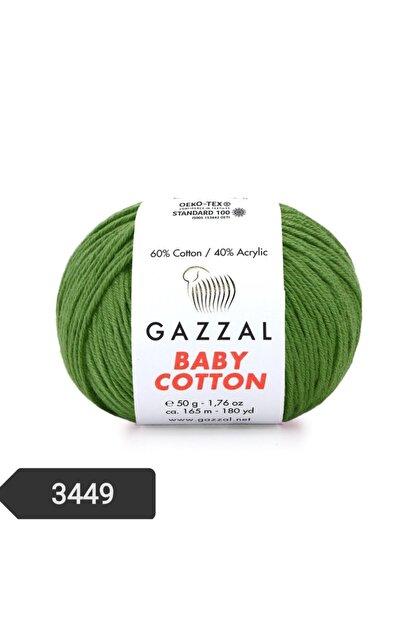 Gazzal Baby Cotton Amigurumi Ipi 50 Gr El Örgü Ipi Punch Ipi 3449