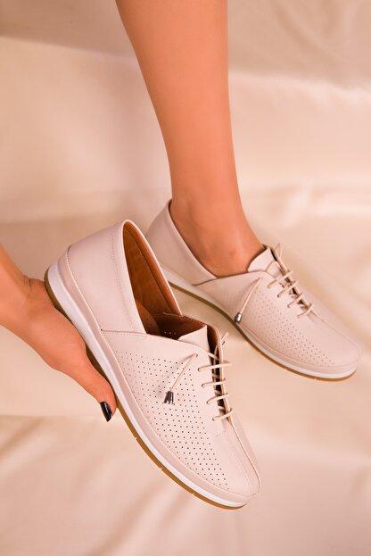 Soho Exclusive Bej Mat Kadın Casual Ayakkabı 16017
