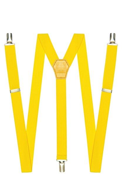 DWOY Metal Klipsli Sarı Ince Pantolon Askısı
