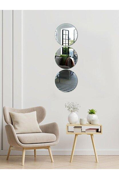 Decovetro Ayna | 3 Parça Yuvarlak Dekoratif Duvar Aynası