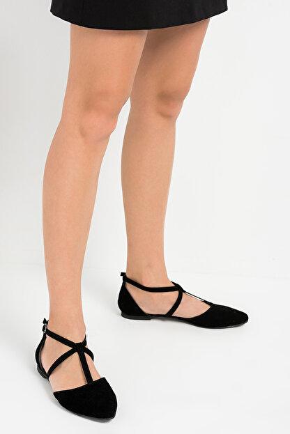 Fox Shoes Siyah Kadın Ayakkabı D726537302