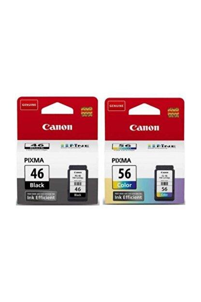 Canon Pıxma E464 Yazıcı Kartuşu Pg-46 Cl-56 Orijinal Mürekkep Kartuş