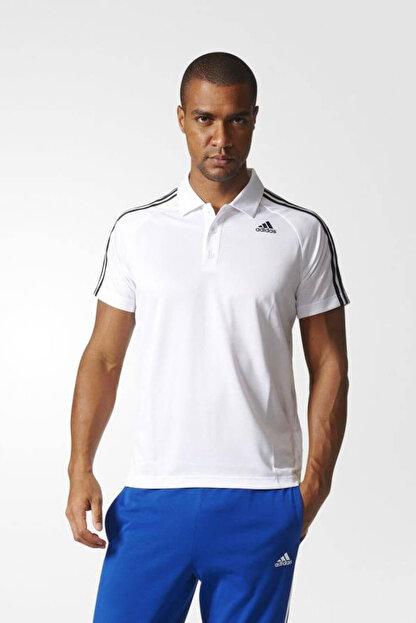 adidas Erkek Polo Yaka T-shirt - D2M 3S Polo White - BK2602
