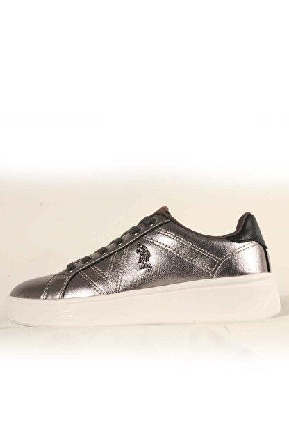 US Polo Assn EXTRA Gümüş Kadın Havuz Taban Sneaker 100551351