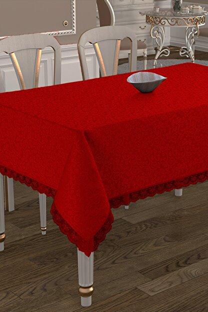 Çeyiz Diyarı Kdk Dertsiz Masa Örtüsü  - Kırmızı