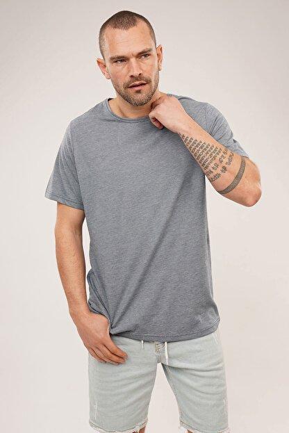 Carlamia Erkek Mavi Bisiklet Yaka T-shirt