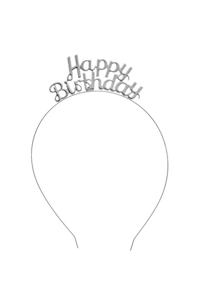 Deniz Party Store Happy Bırthday Metal Taç Doğum Günü Taci Gümüş