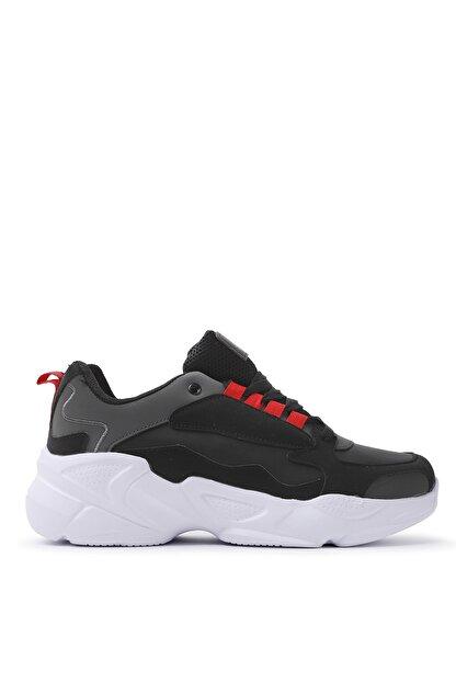 Slazenger ITALY Sneaker Kadın Ayakkabı Siyah / Beyaz SA20LK037
