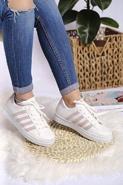 Oksit Lara Şeritli Kadın Sneaker