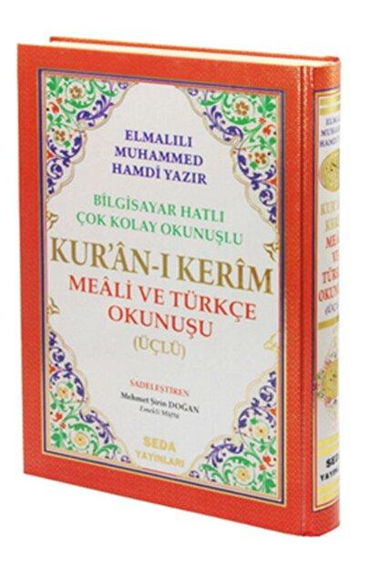 Seda Yayınları Orta Boy Kuranı Kerim (arapça, Türkçe Okunuş Ve Türkçe Meali)