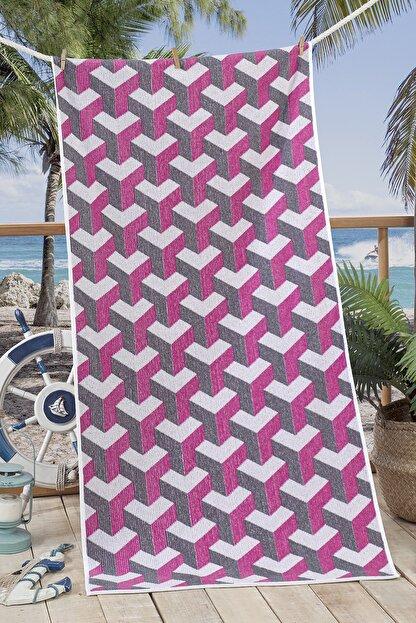 Nilly Home 3d Ipliği Boyalı Plaj Havlusu Mare - 70*145 Fuşya