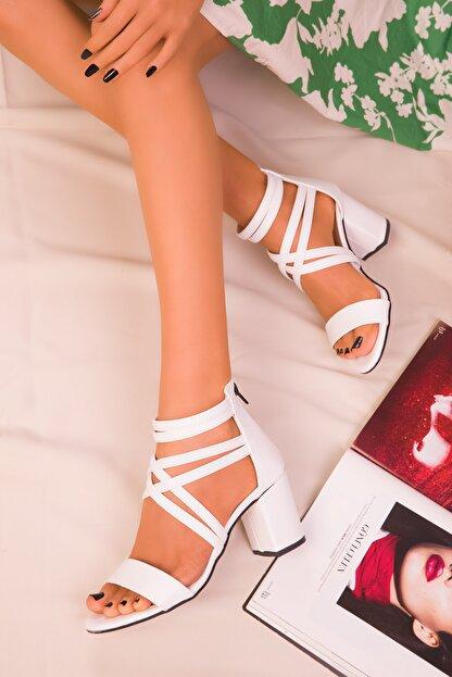 Soho Exclusive Beyaz Kadın Klasik Topuklu Ayakkabı 14670