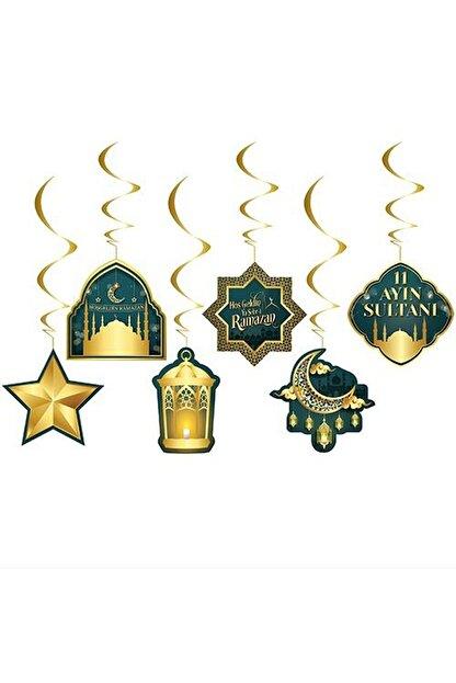 Huzur Party Store 6'lı Tavan Süs Hoşgeldin Ramazan Bayramı 11 Ayın Sultanı Temalı Sarkıt Dini İslami Süsü