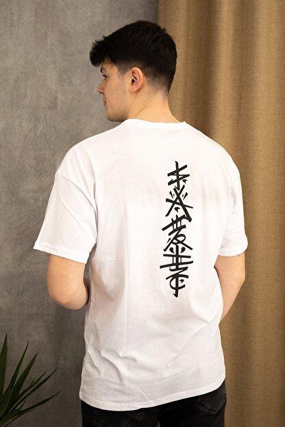 wamoss Oversize Japon Figür T-shirt
