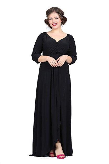 Angelino Kadın Siyah Genç Abiye Elbise KL56
