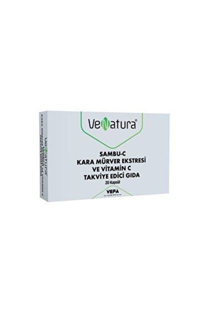 Venatura Sambu-c Kara Mürver Ekstresi Ve Vitamin C Takviye Edici Gıda 20 Kapsül