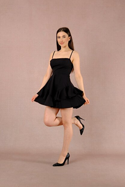 LAST LEO Siyah Elbise