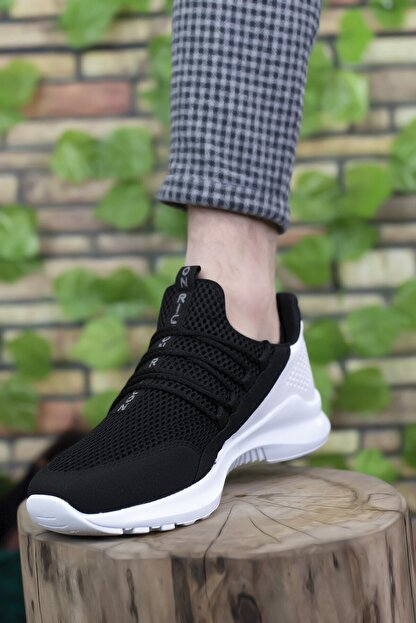 Riccon Siyah Beyaz Erkek Sneaker 0012180