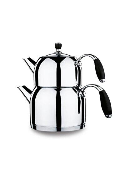 KORKMAZ Flora Siyah Maxi Çaydanlık Takımı A119