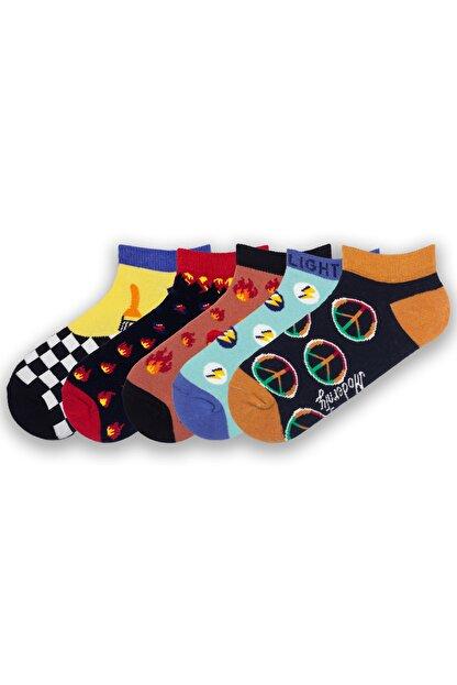 Modernity Unisex Mavi Renkli Kokulu  Patik Çorap 5'li