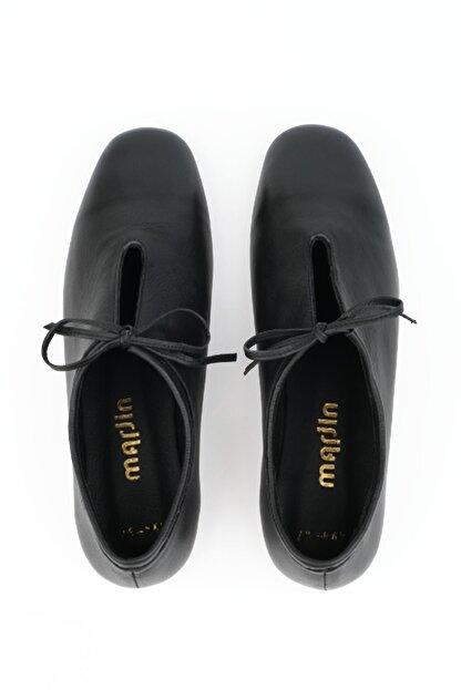 Marjin Kadın Siyah Hakiki Deri Günlük Ayakkabı Burlas