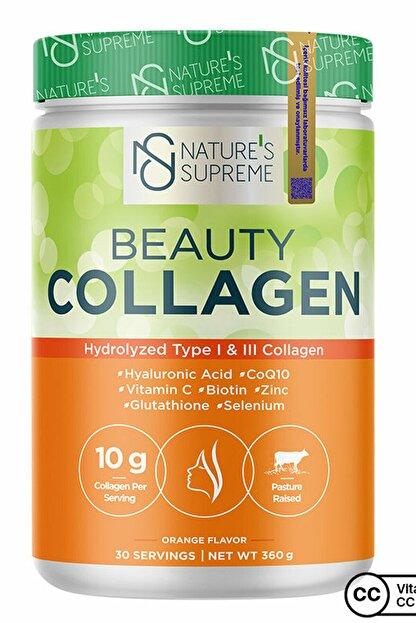Natures Supreme Beauty Collagen Powder 360 gr - Portakal