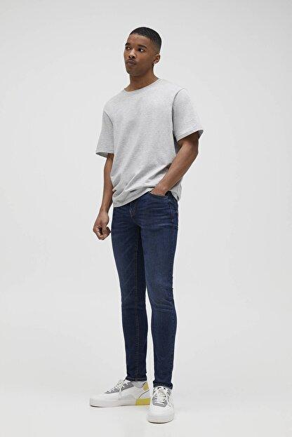 Pull & Bear Erkek Mavi Süper Skinny Fit Jean