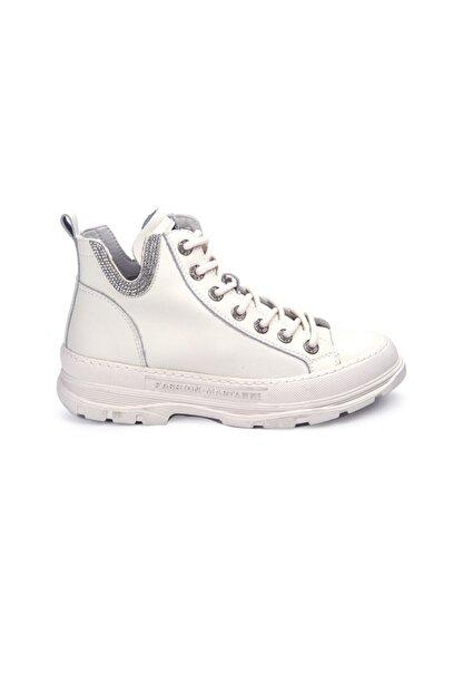 Guja Kadın Beyaz Bağcıklı Sneaker