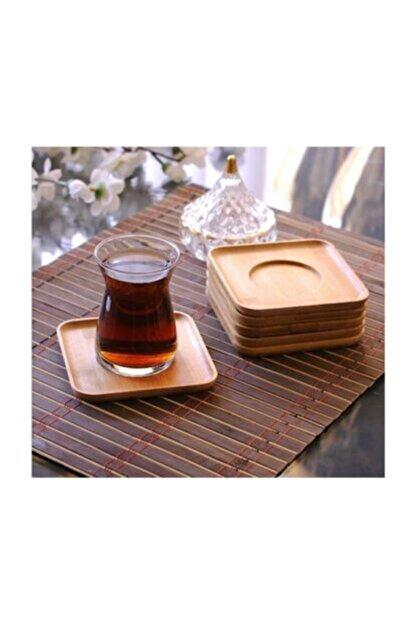Balsa Grup Bambu Kare Çay Tabağı 6lı