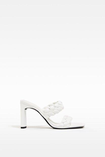 Bershka Örgü Bantlı Topuklu Sandalet