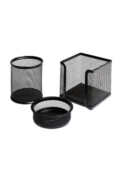 Bigpoint Lotte Metal Perfore 3`lü Set Siyah Fx