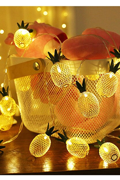 Taled 3 Boyutlu Animasyonlu Pineapple Ananas Şerit Led Işık 1 M 10 Led Günışığı Dekoratif Led