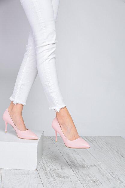 Shoes Time Pudra Kadın Topuklu Ayakkabı 18Y 11905