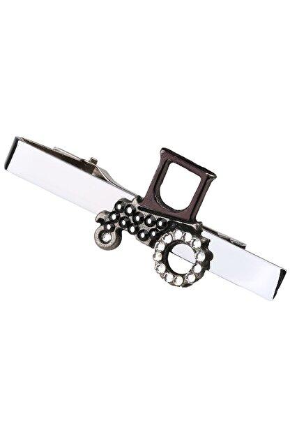 La Pescara Erkek Gümüş Renk Traktör Motif Kravat İğnesi KIY113 KRVT8690002221850
