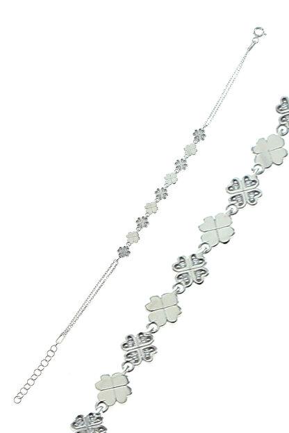 Söğütlü Silver Kadın Yonca Modeli Bileklik SGTL8283