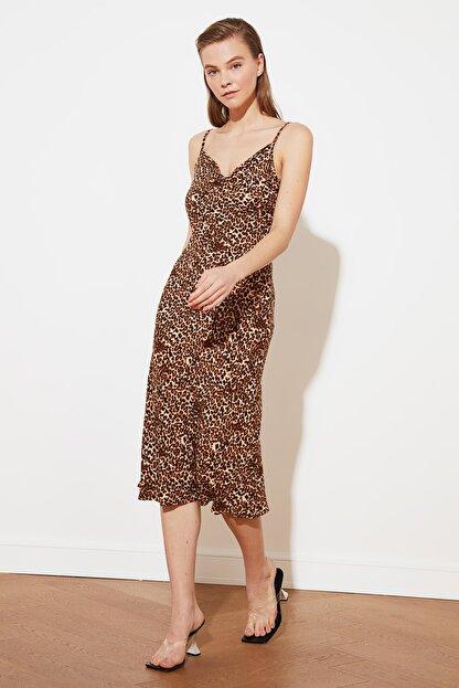 TRENDYOLMİLLA Çok Renkli Askılı Elbise TWOSS19EL0172