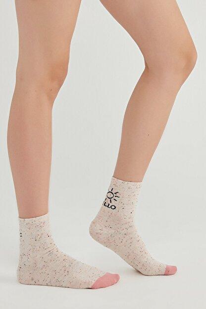 Penti Kadın Gri Hello Sun Soket Çorap