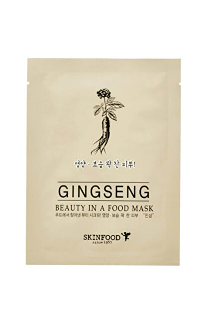 Skinfood Maske - Beauty in a Food Mask Sheet - Ginseng 18 ml  8809427862244